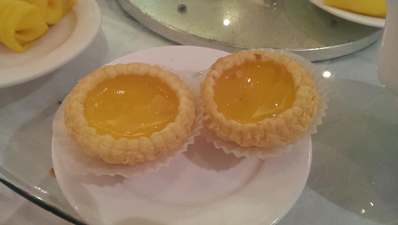 Egg custard tart at East Ocean Restaurant Sydney Chinatown
