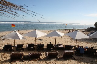Beach front at Karma Beach Club Bali