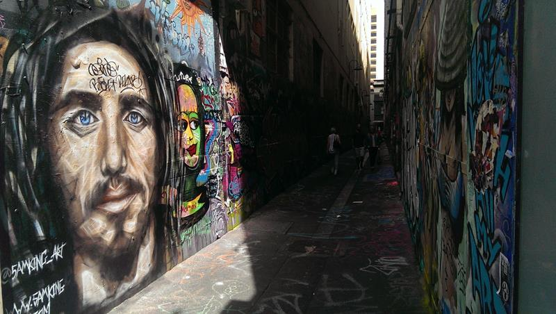 Graffiti art gallery in the lanes of Melbourne