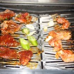 Gas grill at Sama Sama Yakiniku Japanese Restaurant