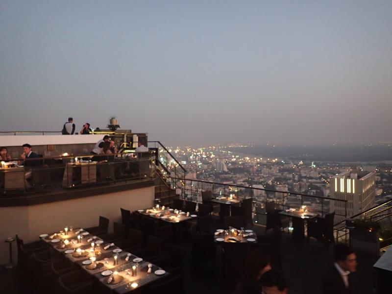 View from Vertigo Grill rooftop restaurant Bangkok