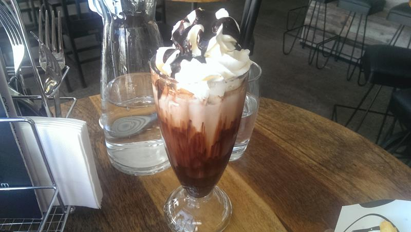Chocolate milkshake at the Meat District Co King Street Wharf Sydney