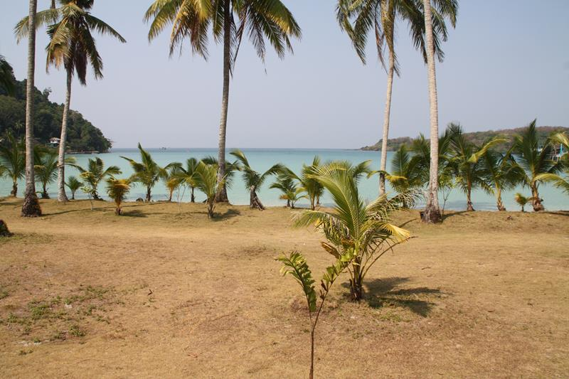 View from bungalows of Siam Beach Resort