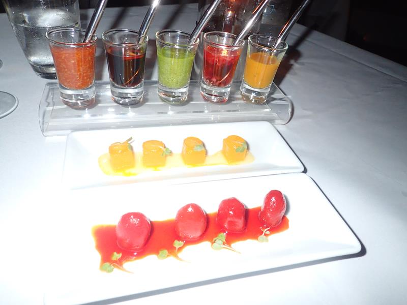 Appetizers at Breeze Restaurant