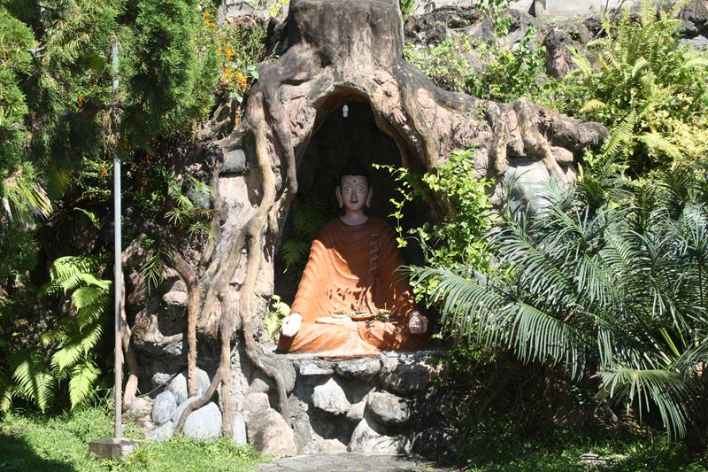 Gardens at the Buddhist Temple North Bali