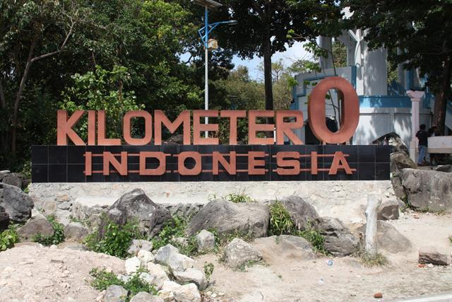 9 Kilometer Indonesia monument The Start of Indoensia