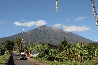 The Mother Temple at Mount Agung volcano Bali