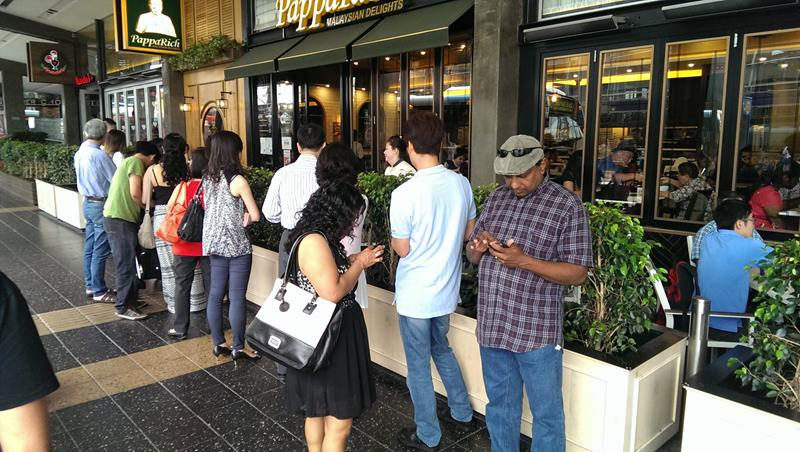 Queue outside Papparich Malaysian Restaurant Parramatta