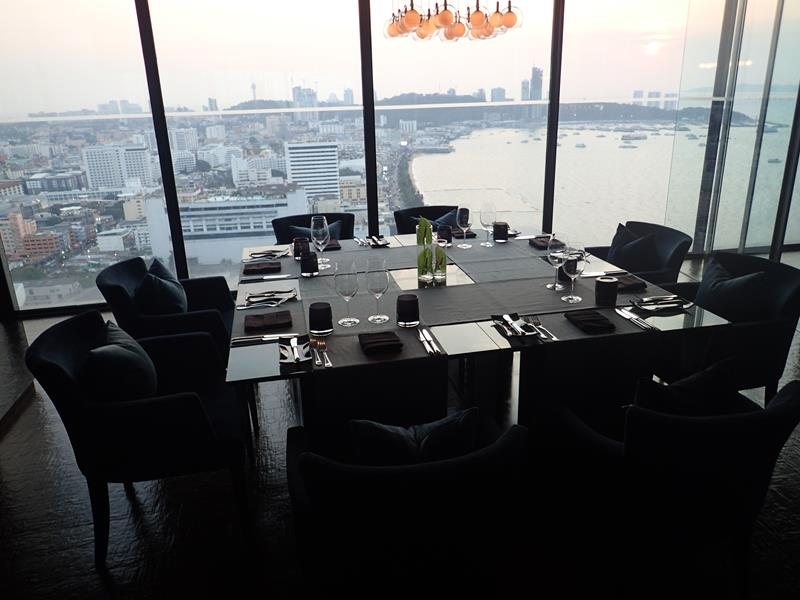 Private Dining Table at Horizon Bar Hilton Hotel