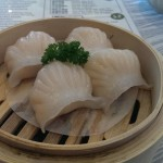Steamed prawn dumplings yum chat at Sky Chinese Restaurant