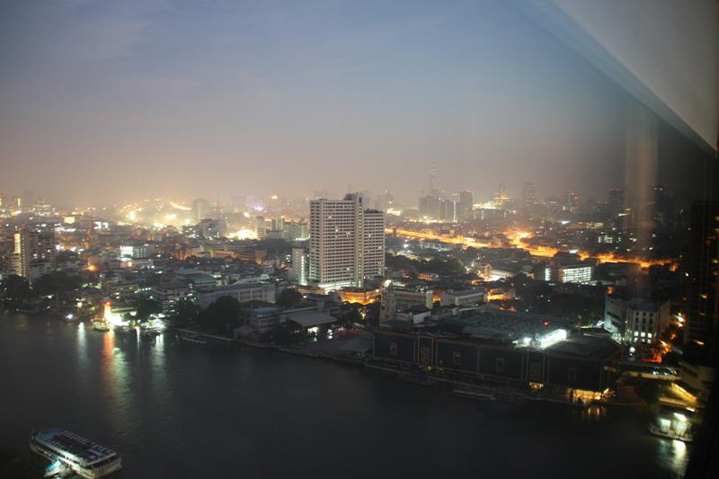 View from room at Hilton Hotel Bangkok