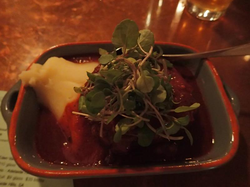 Slow cooked beef cheek at Sparrow