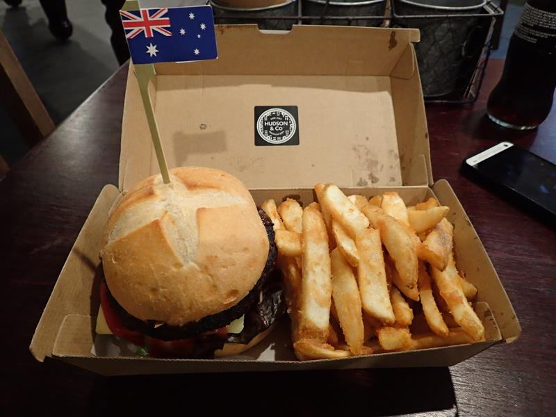 Gourmet Burgers at Hudson & Co Surfers Paradise