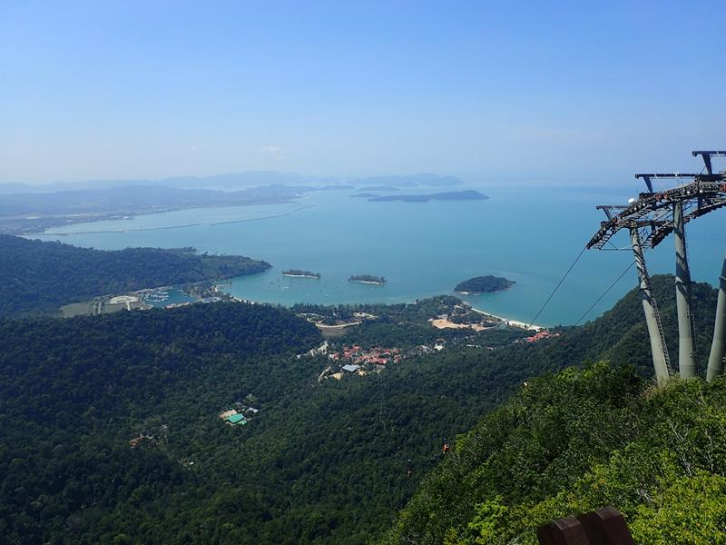 View over Langkawi from the top of the cable car