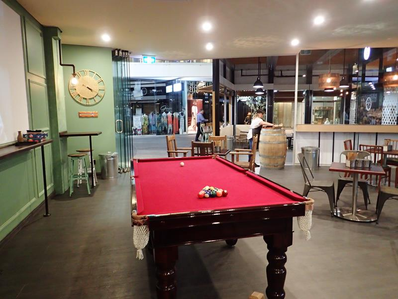 Pool Table at Hudson & Co