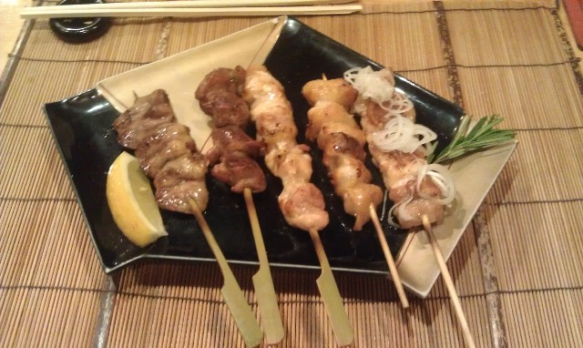 Yakitori - grilled chicken skewers