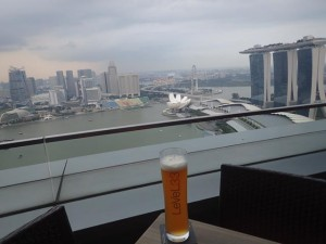 Level 33 view over Singapore