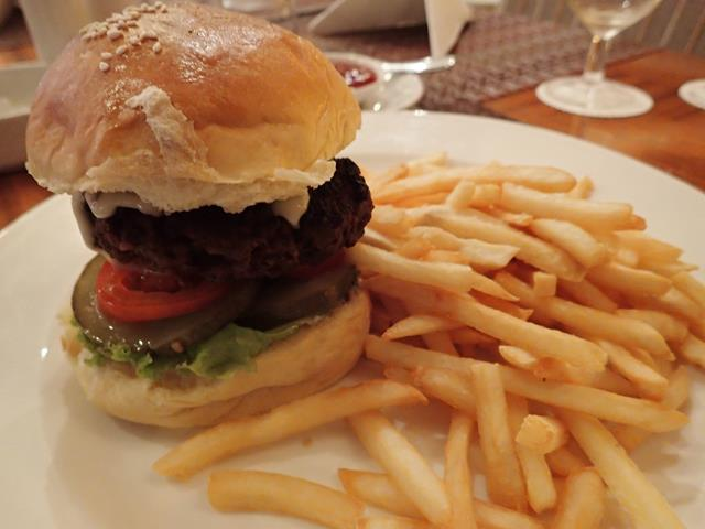 Beef burger at Swiss-Belhotel restaurant