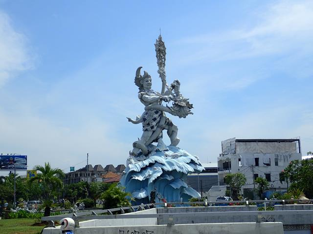 The statue out the front of Bibimbap Korean Restaurant Kuta