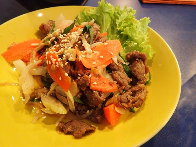 Beef bulgolgi at Bibimbap Korean Restaurant Kuta