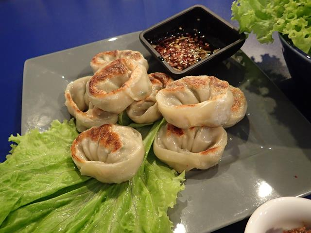 Gun Mandu fried dumplings at Bibimbap Korean Restaurant