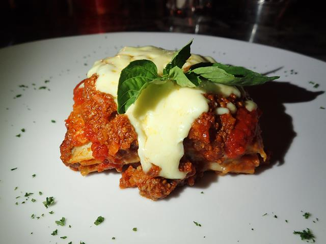 Lasagna at Bella Italia Restaurant Sanur