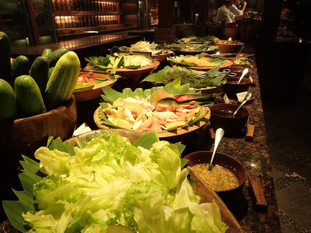 Buffet dinner at Pasar Senggol Restaurant Nusa Dua