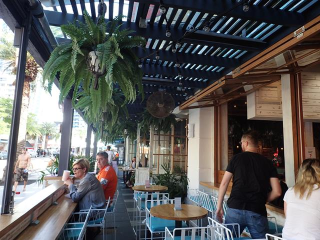 Outside dining at Betty's Burgers Surfers Paradise