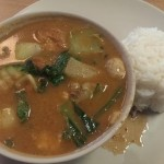 Red Thai curry at Peace Harmony