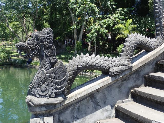 Chinese Dragon at Water Palace Gardens Bali