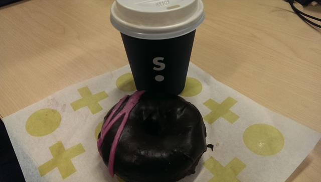 Coffee and Donut at Short Stop Barangaroo