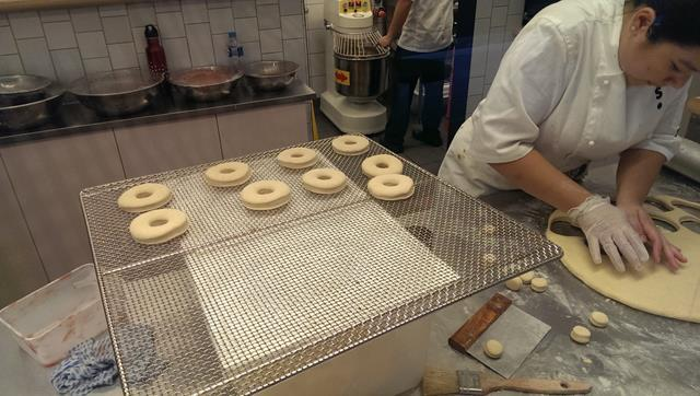 Fresh made donuts at Short Stop Barangaroo