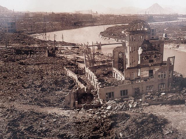 Hiroshima after the atomic blast
