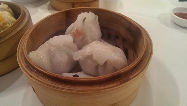 Steamed dumplings at Zilver Yum Cha Restaurant Sydney