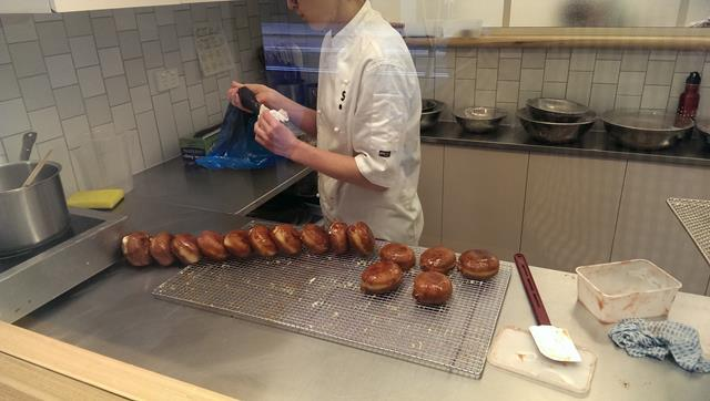 donut making at Short Stop Barangaroo