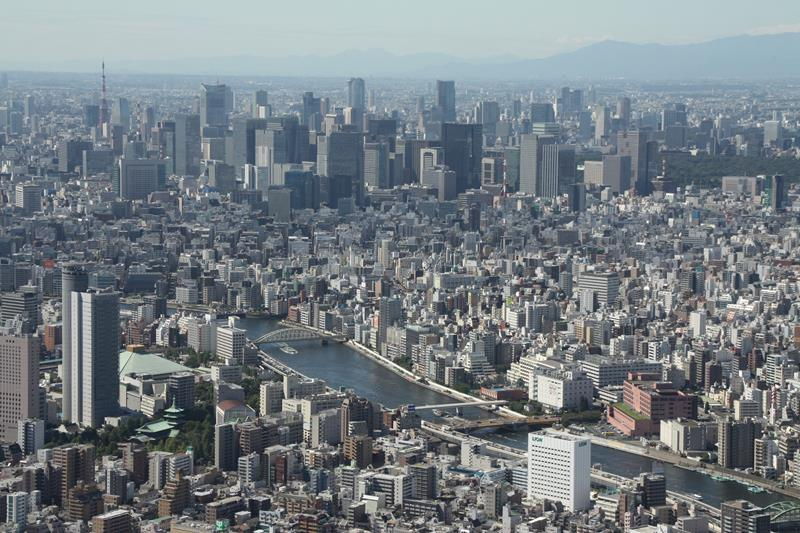 View over Tokyo from Skytree tower