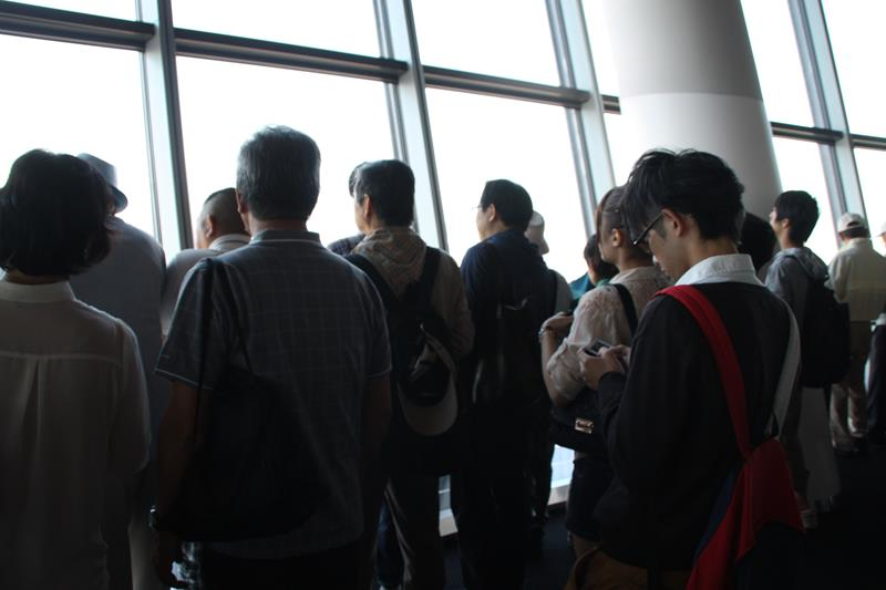 Busy Observation Deck at Skytree