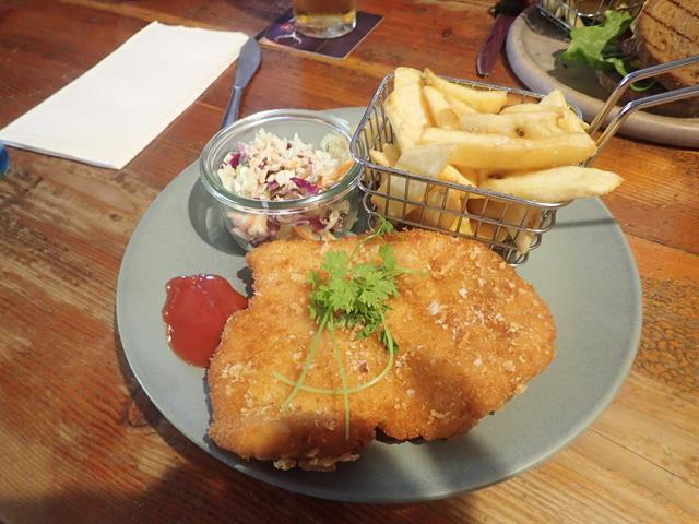 Chicken Schnitzel at Royal Cricketers Arms Inn