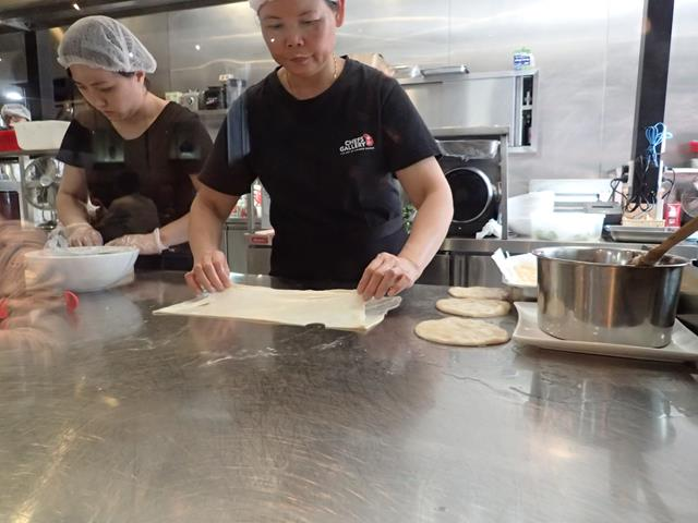 Inside the kitchen at Chefs Gallery Sydney CBD