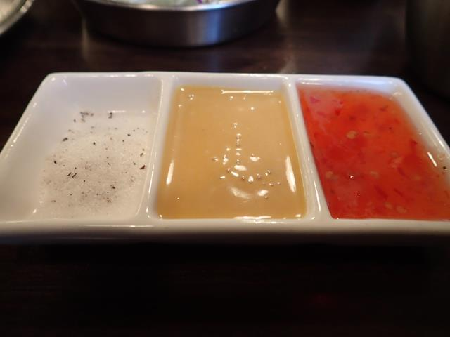 Dipping sauces for the chicken