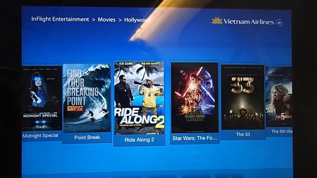 Entertainment on Vietnam Airlines