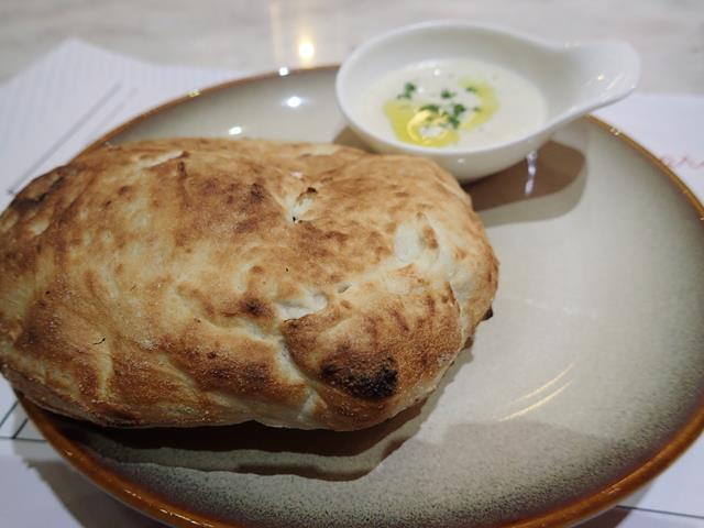Pizza oven bread at Namo Pizzeria