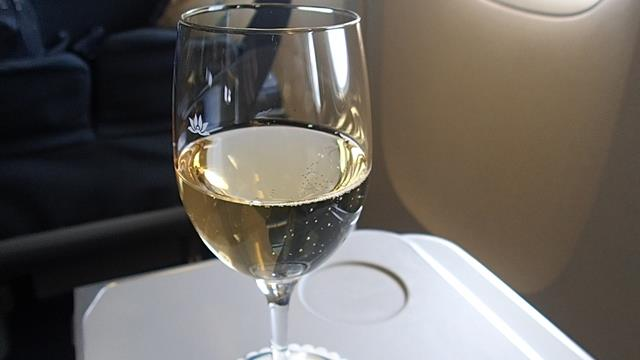 Vietnam Airlines Champagne before take-off
