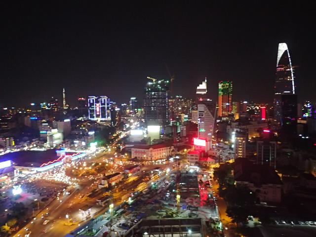 View from Air 360 Skybar Ho Chi Minh City
