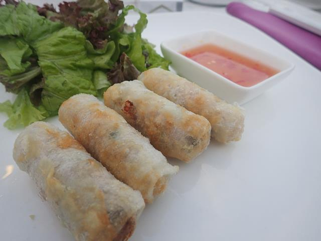 Hue Style Spring rolls at the Holiday Beach Club