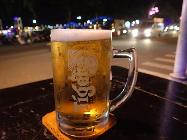 Ice cold beer at Bamboo 2 Bar Danang