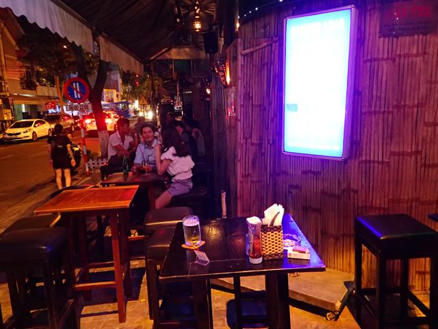 Outside seating at Bamboo 2 Bar