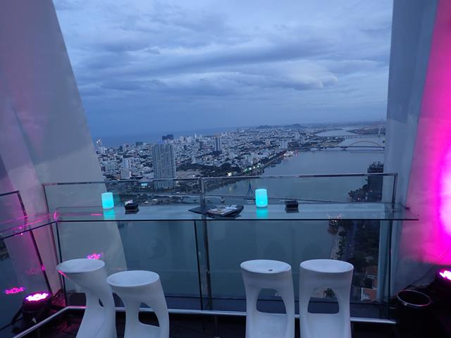 Sunset at Sky36 Rooftop Bar Danang
