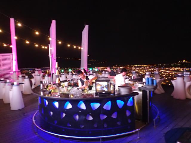 The bar at Sky36 Rooftop Danang