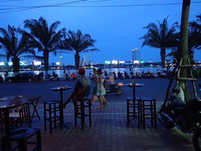 View from Waterfront Restaurant Bar Danang ground level